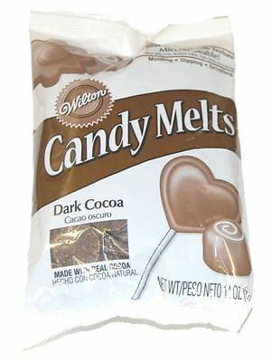 Wilton Candy Melts/Wafers 12 oz Dark Cocoa Flavored Candy Making Supplies 12 Oz