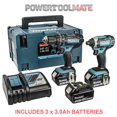 Makita DLX2131JX1 18v Li-ion LXT Combi and Impact Twin - 3 x 3.0ah Batteries