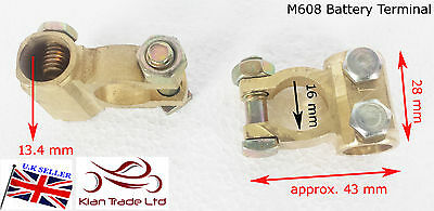 2 x 12V Battery Terminals Connectors Clamps Car Van Boat Caravan Motorhome -M608