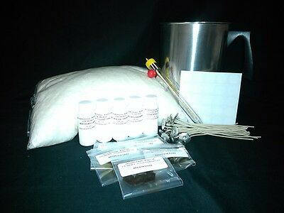 Soy Wax Candle Making Kit 5 Lbs Wax,scent,wicks,dye Chips,pour Pot,thermometer