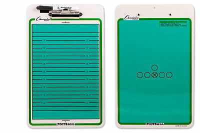 Champion Dry Erase 2 Sided Football Coach Coaching Board With Marker CBFB