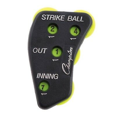 Champion Sports 4 Dial Baseball Softball Umpire Indicator Score Keeper Durable