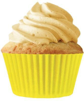 """Cupcake Creations 2"""" BAKING CUPS Yellow 32 Pack No Muffin Pan Need Eco Friendly"""