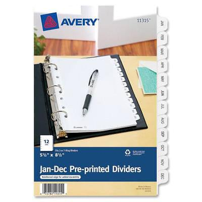 Avery Preprinted Monthly Tab Divider 11315