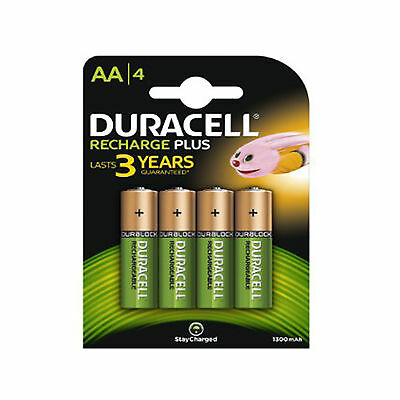 4 Duracell AA 1300 mAh PRE STAY CHARGE Rechargeable Batteries NiMH HR6 phone