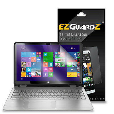 "2X EZguardz Screen Protector Cover HD 2X For HP Envy x360 15T Touch 15.6"" Laptop"