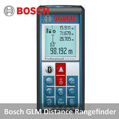 Bosch GLM 100C Laser Distance Measure Rangefinder with Smart Tech ISO / Android