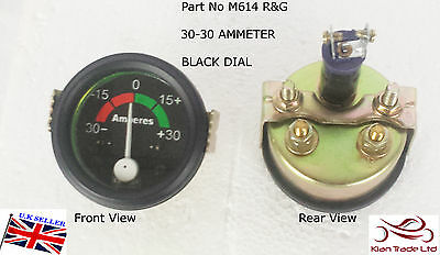 Vintage Car 52Mm Dial Gauge Universal 30-30 Ammeter Amp Clock Black (M614R&g)