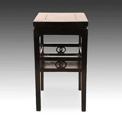 Antique Chinese Qing Side Table Lacquered Elm Wood Furniture China 19Th C.