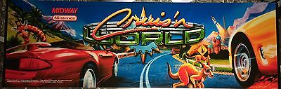 "Cruisin (Cruis'n) World Arcade Marquee 28.5""x9"""
