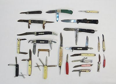 Wholesale Mix Lot of 24 Vintage Pocket Knives/Multi-tools ~ Collector's Special!