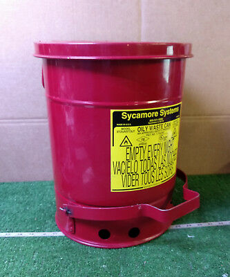 1 Used Sycamore Systems Stc6Jr/Stc6Jy Oily Waste Trash Can ***Make Offer***