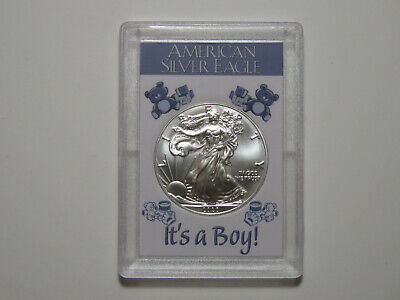 It's A Boy - 2018 American Silver Eagle - One Ounce ASE 999 1 oz Baby Gift