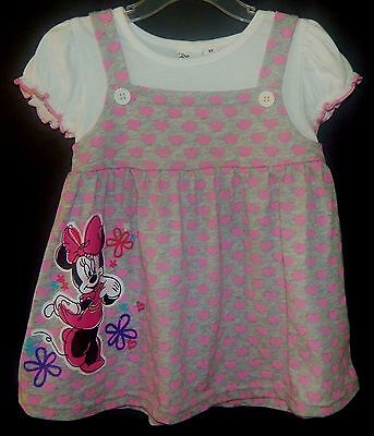 MINNIE MOUSE DISNEY Girls 1-Piece Dress Outfit Clothing Set Toddlers Size 4T $27