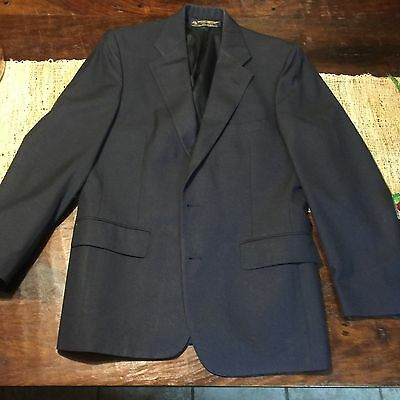 Black Brooks Brothers Sports Coat Dress Jacket Blazer 41R 2 Button