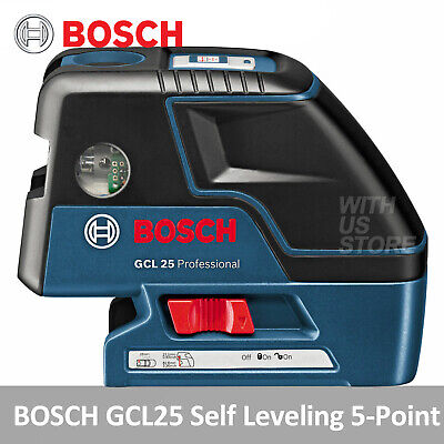 Bosch GCL25 Professional Self Leveling 5-Point Alignment Cross-Line Laser Level