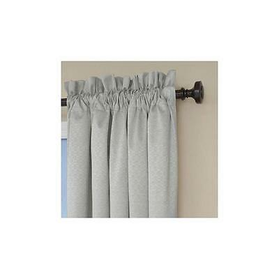 "Eclipse Gray 42"" X 63"" Canova Blackout Energy-Efficient Curtain Panel"