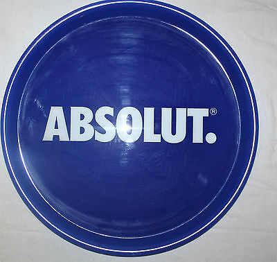Absolut Wodka Vodka Servier Tablett Bar Partykeller Gastro blau Neu Spirituosen