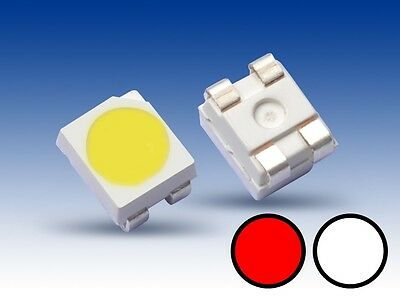 S668 - 20 Piezas DUO Bi-Color LED SMD 3528 blanco / rojo Cambio Luz Locomotora