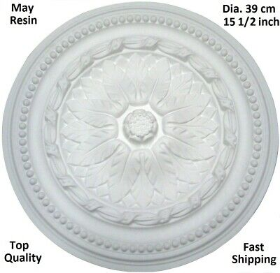 Ceiling Rose Resin Strong Lightweight Design Not Polystyrene Easy Fix 39cm