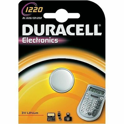 Duracell 1220 Battery Lithium Battery 3V Button Coin Cell CR1220 DL1220 ECR1220