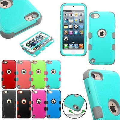 TUFF Hybrid Protective Hard Silicone Case Cover For Apple iPod touch 6 5 th