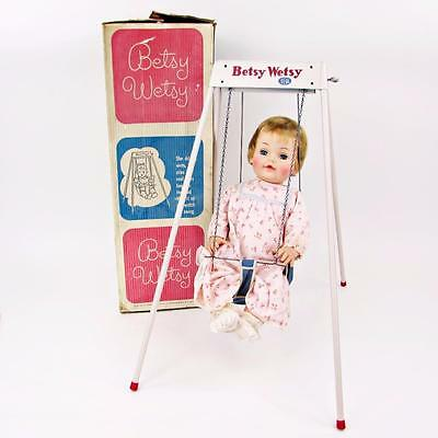"Vintage Ideal 23"" Betsy Wetsy Doll With Automatic Swing In Original Box - NICE"