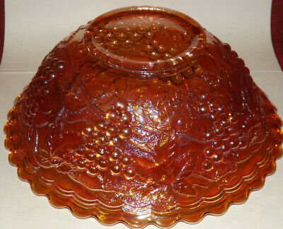 Vintage Imperial Grape Marigold Carnival Glass Bowl