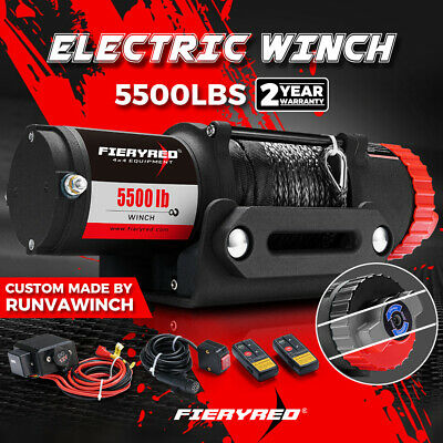 Wireless 4500LB/2041kg 12V Electric Winch Synthetic Rope 2 Remote ATV 4WD Boat