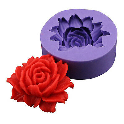 3D Rose Flower Silicone Fondant Mold Cake Decoration Tools DIY Chocolate Mould
