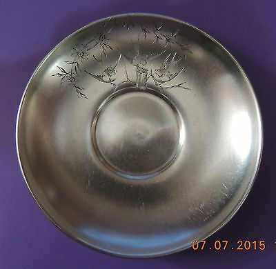 ANTIQUE RUSSIAN 84 SILVER HEAVY SAUCER --86.6 grams.1896