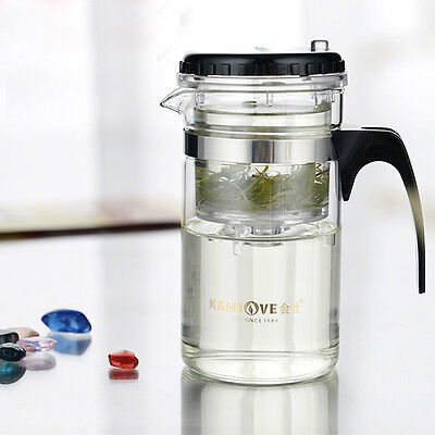 Useful Multi-purpose Glass Tea Pot with Stainless Infuser for Home Cafe Use