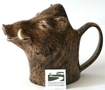 Wild Boar Jug Quail Pottery Collectable Hunting gift