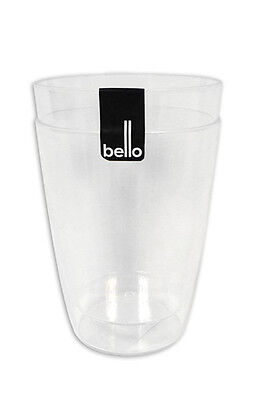 """""""Bello"""" Pack of 2 Clear Plastic Tumblers  - Ideal for Picnics, BBQs & Parties"""