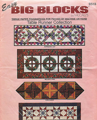 Big Blocks by McCall's Table Runner Collection Pattern B518