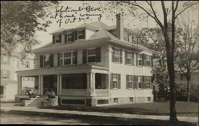 Beverly MA Cancel Whitcomb Bros Home c1910 Real Photo Postcard