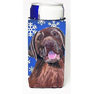 Labrador Winter Snowflakes Holiday Michelob Ultra bottle sleeves For Slim Cans