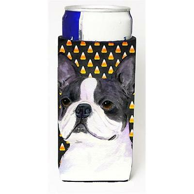 Boston Terrier Candy Corn Halloween Portrait Michelob Ultra s For Slim Cans 1...