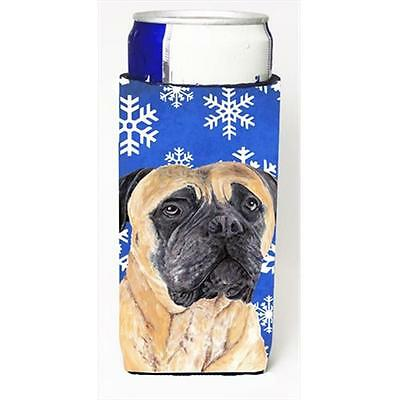 Mastiff Winter Snowflakes Holiday Michelob Ultra bottle sleeves For Slim Cans