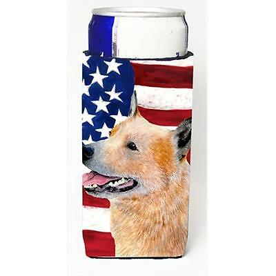 Usa American Flag With Australian Cattle Dog Michelob Ultra bottle sleeves Fo...