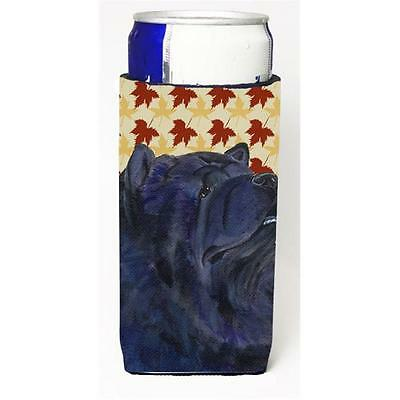 Chow Chow Fall Leaves Portrait Michelob Ultra bottle sleeve for Slim Can