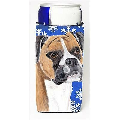 Boxer Winter Snowflakes Holiday Michelob Ultra bottle sleeves For Slim Cans