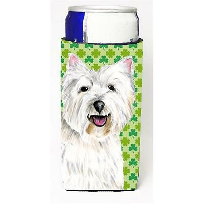 Westie St. Patricks Day Shamrock Portrait Michelob Ultra bottle sleeves for s...