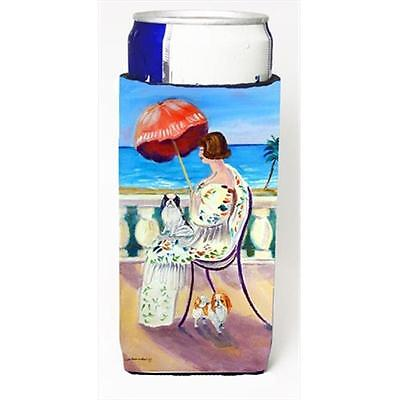 Lady With Her Japanese Chin Michelob Ultra bottle sleeves For Slim Cans