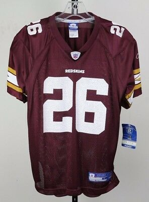 Washington Redskins Maroon  26 Clinton Portis Youth Size Reebok Football  Jersey d6c6cdfb0