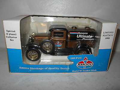 "Amoco Ultimate Premium 1929 Ford Model ""A"" Tanker Bank - 1992 Diecast Bank - New"