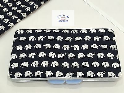 Navy Blue Elephants Baby Wipes Case - Perfect Gift For Baby Shower