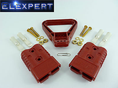 Anderson Plug With Handle - 175 Amp - Battery Connector - Jump Start - X2 - Red