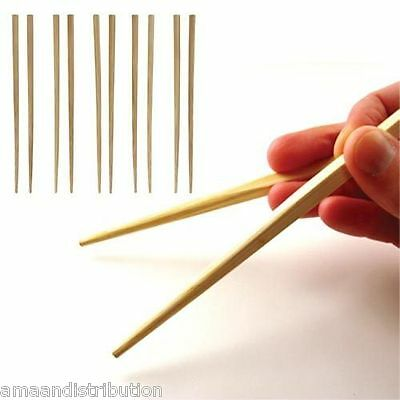 10 Chopstick Reusable Wooden Bamboo Chinese Japanese Chop Traditional