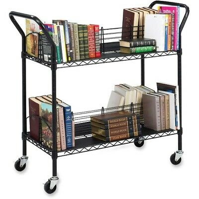 Safco Double Sided Wire Book Cart 5333BL